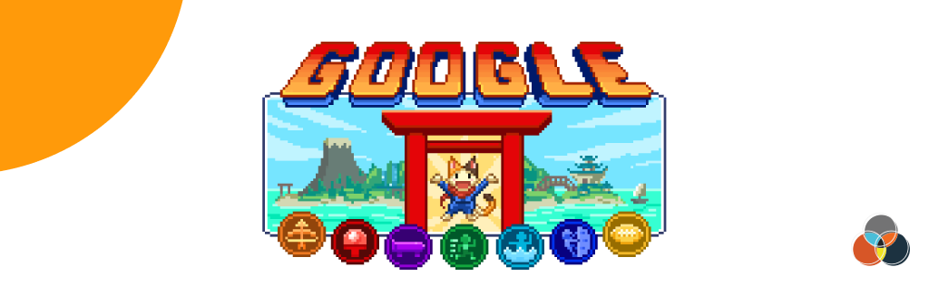 google doodle champions island and gabriel chauri logo